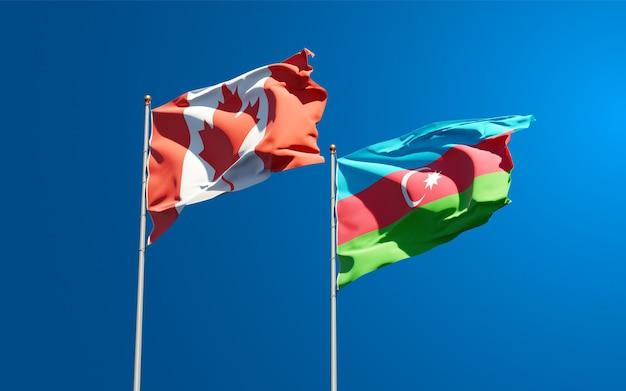 Drapeaux nationaux de l'azerbaïdjan et du canada