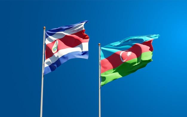 Drapeaux nationaux de l'azerbaïdjan et du costa rica