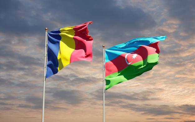Drapeaux nationaux de l'azerbaïdjan et du tchad