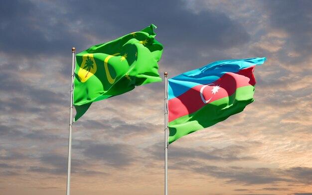 Drapeaux nationaux de l'azerbaïdjan et de l'île cocos