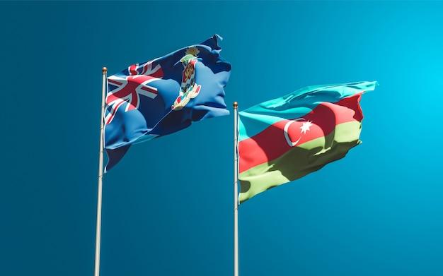 Drapeaux nationaux de l'azerbaïdjan et des îles caïmans