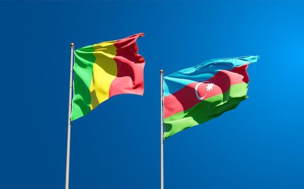 Drapeaux nationaux du mali et de l'azerbaïdjan