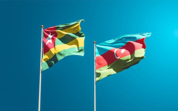 Drapeaux nationaux du togo et de l'azerbaïdjan ensemble