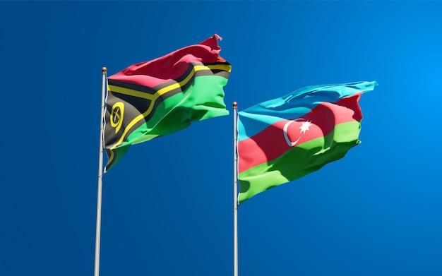 Drapeaux nationaux du vanuatu et de l'azerbaïdjan ensemble