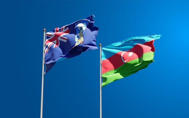 Drapeaux nationaux des îles falkland et de l'azerbaïdjan ensemble