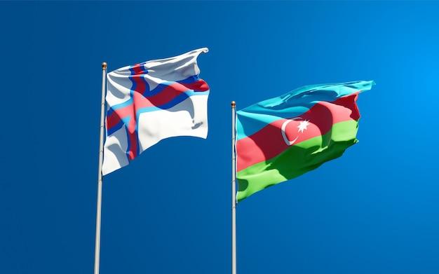 Drapeaux nationaux des îles féroé et de l'azerbaïdjan