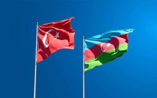 Drapeaux nationaux de la turquie et de l'azerbaïdjan ensemble