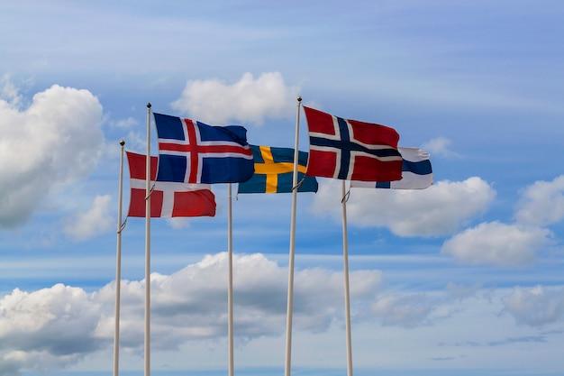 Drapeaux scandinaves