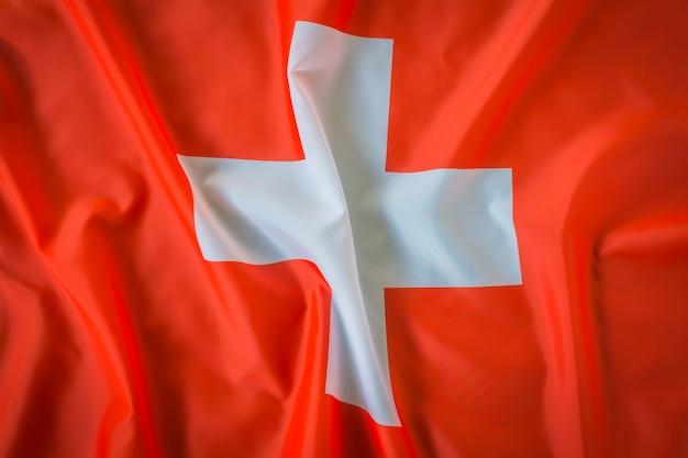 Drapeaux de la suisse.