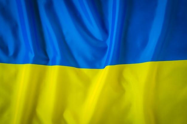 Drapeaux de l'ukraine.
