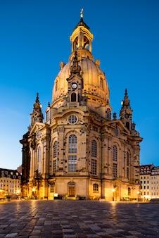 Dresde, église notre-dame de nuit