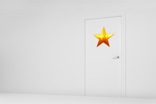 Dressing avec une étoile sur la porte