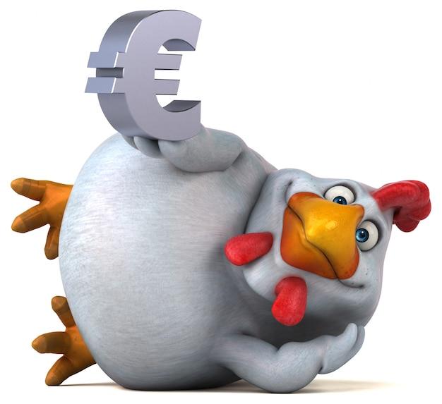 Drôle personnage de gorille 3d tenant un signe euro