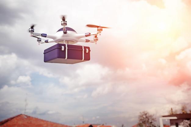 Drone 3d sur la ville