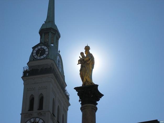 Du capital peter s munich colonne mariale bayer église