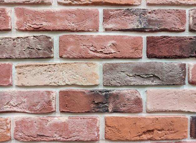 Le du mur est une surface de brique rouge. mur abstrait.