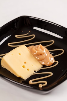 Dulce de leche au fromage, (doce de leite) un dessert sucré à base de lait, fabriqué au brésil et en argentine.