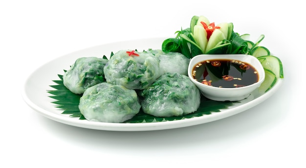 Dumplings chinois à la ciboulette vapeur