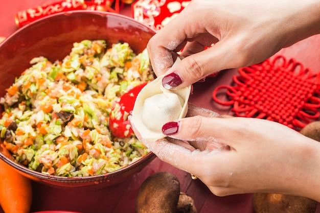 Dumplings pour le festival chinois festivals chinois