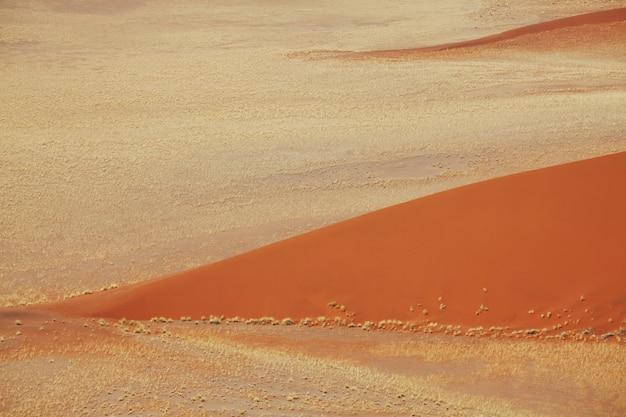 Dunes de sable et désert en namibie, afrique