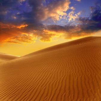 Dunes de sable du désert à maspalomas, grande canarie