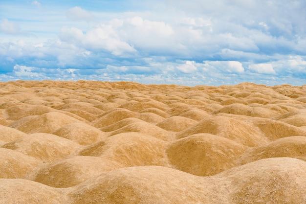 Dunes de sable de forme bizarre