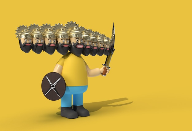 Dussehra celebration - ravana avec dix têtes avec outil stylo épée et bouclier création d'un tracé de détourage inclus dans jpeg facile à composer.