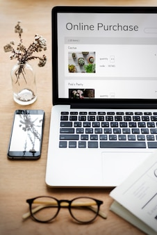 E-commerce achats en ligne vente de plantes