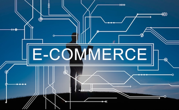 E-commerce shopping en ligne concept de vente