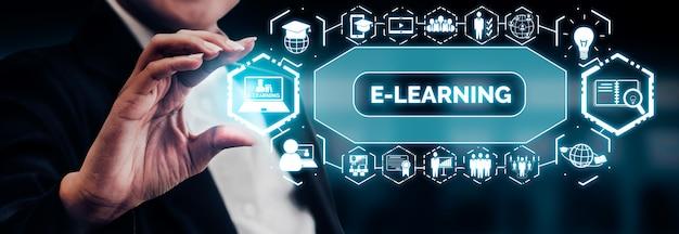 E-learning pour étudiant et université concept