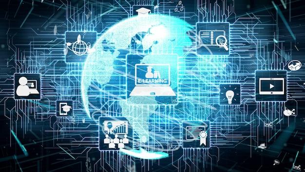 E-learning pour étudiant et université conceptuel