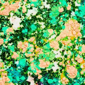 Eau colorée jaune vert clair
