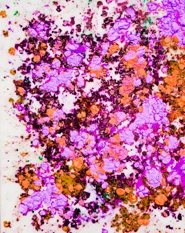 Eau colorée orange violette
