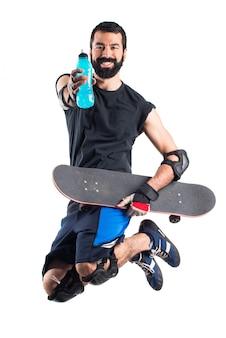 Eau potable de patineuse