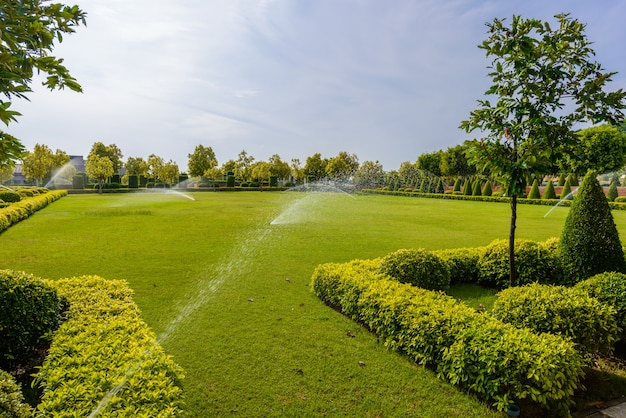 L'eau de printemps dans le jardin de l'agriculture, le mouvement de l'eau de printemps autour du jardin