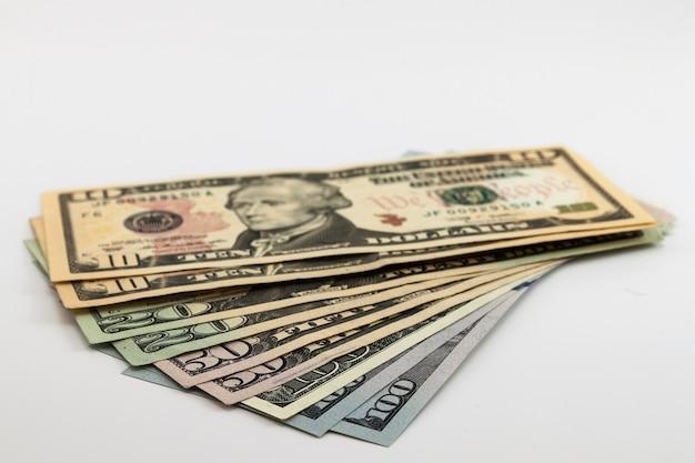 Écart de factures d'argent en dollars américains