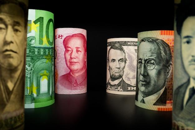 Échange d'argent international. monnaie étrangère.