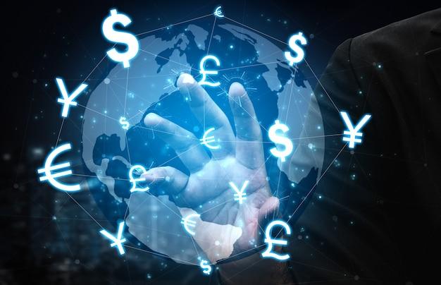 Échange de devises global foreign money finance