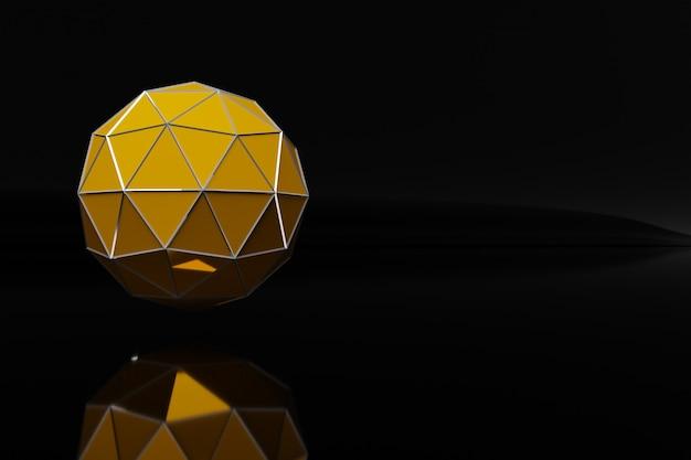 Un échantillon d'une boule géométrique en forme de gemme. une balle aux multiples visages.