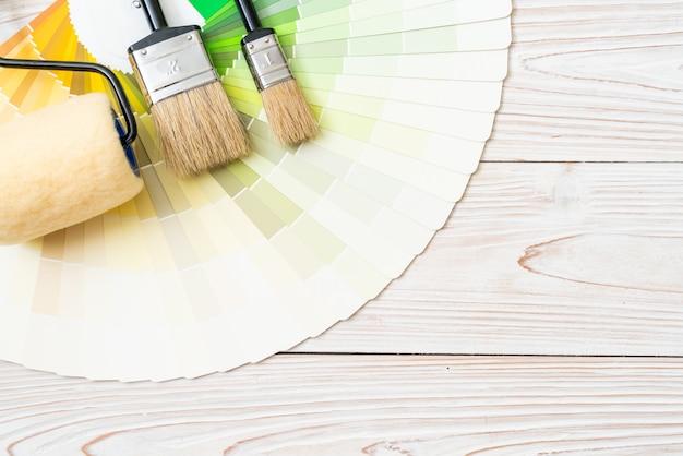 Échantillon de catalogue de couleurs pantone ou nuancier