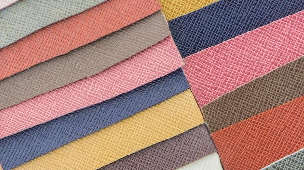 Échantillon de couleur de cuir