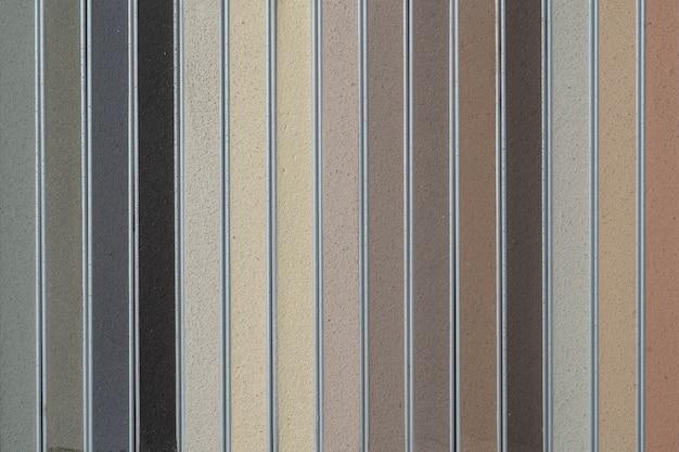 Échantillon de coulis multicolore close-up décoration intérieure construction travaux intérieurs