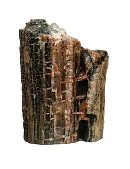 Échantillon géologique de pépite minérale halite de sel gemme cristallin naturel isolé