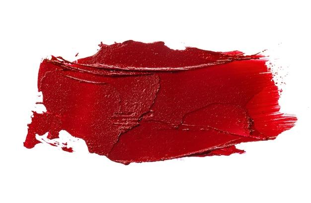 Échantillon de rouge à lèvres sur blanc