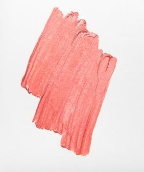 Échantillon de rouge à lèvres pour le maquillage