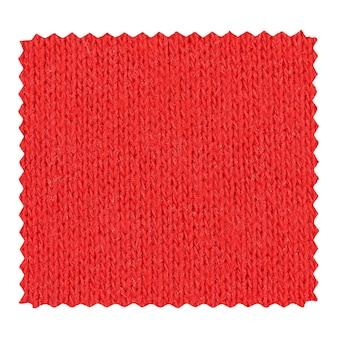 Échantillon de tissu zigzag rouge