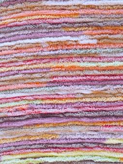 Échantillons de tapis de différentes couleurs
