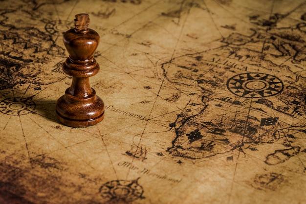 Échecs sur l'ancienne carte