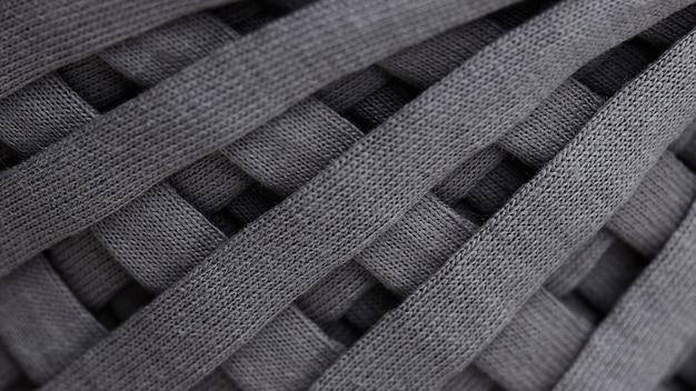 Écheveau de tricot de fil gris