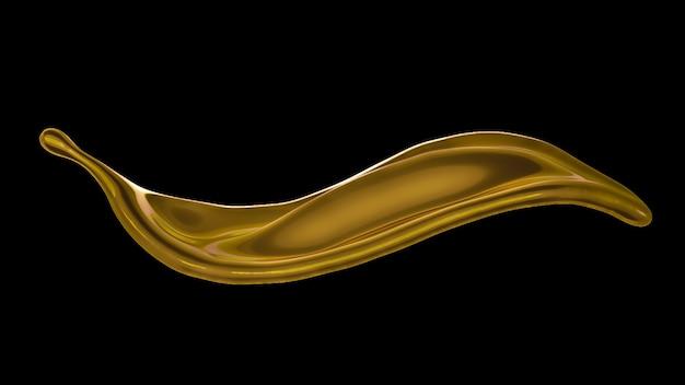 Une éclaboussure de liquide épais et doré